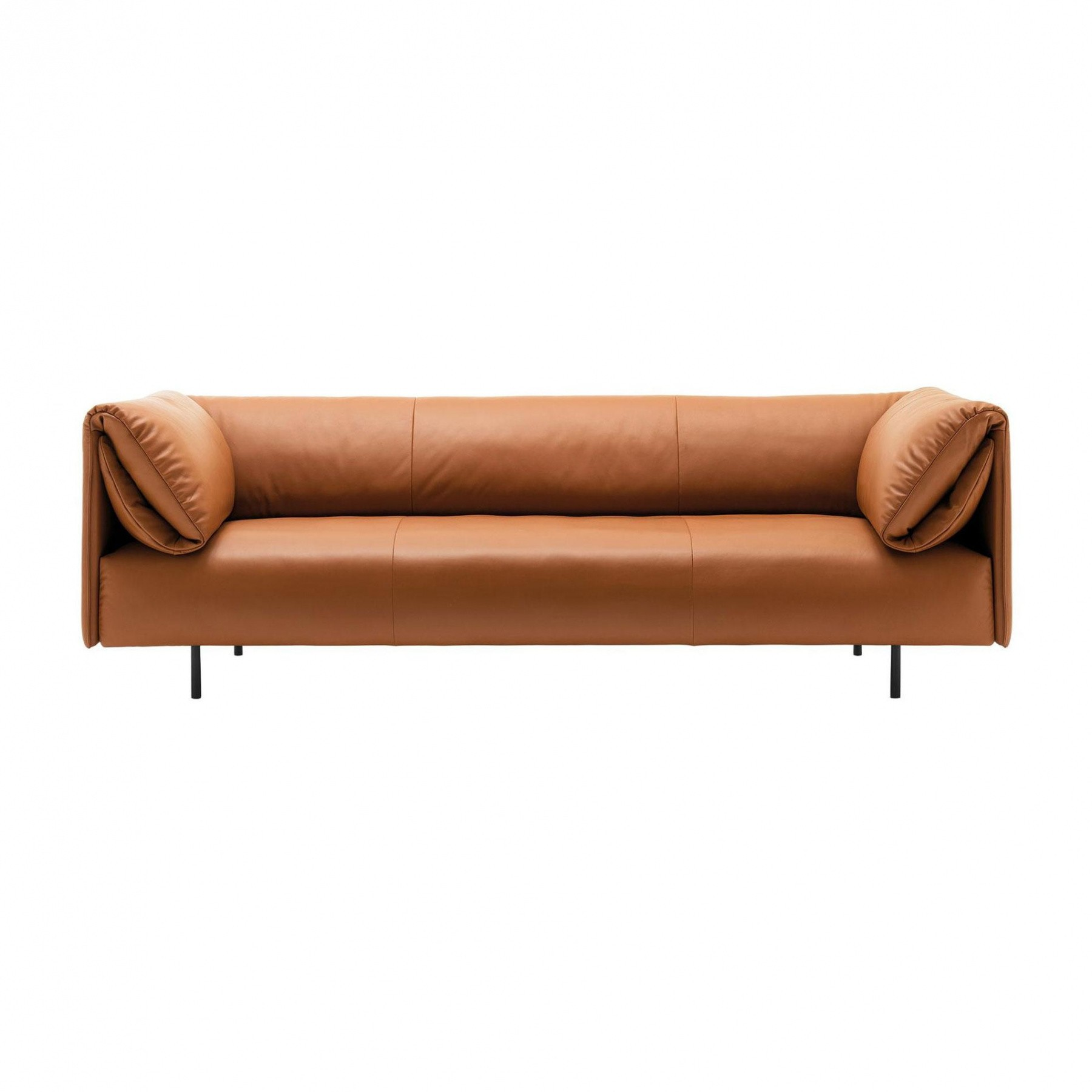 Rolf Benz   Rolf Benz 520 Alma Sofa 4 Seater   Ochre/leather 38.111