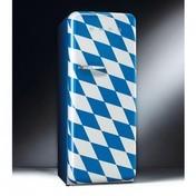 Smeg - FAB28 Standkühlschrank Bayern - blau/Motiv Bayern/lackiert/Rechtsanschlag