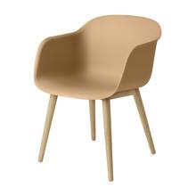 Muuto - Fiber Chair Armlehnstuhl mit Holzgestell