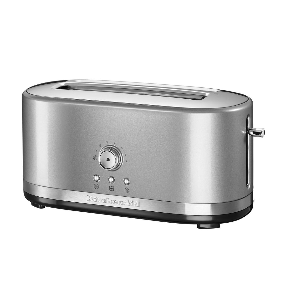 kitchenaid kmt manual control toaster  kitchenaid  - kitchenaid  kitchenaid kmt manual control toaster silverglossywith  long slots