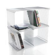 Montana - Panton Wire Shelf Set 2 - chrome/incl. clips/4 moduls à 35.4 x 35.4 x 35.4 cm