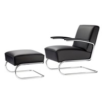 Thonet - Thonet S 411 Sessel und Hocker