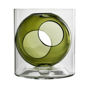 Muuto - Muuto Four Vase - warmes grün/Ø 21cm/H: 23,5cm