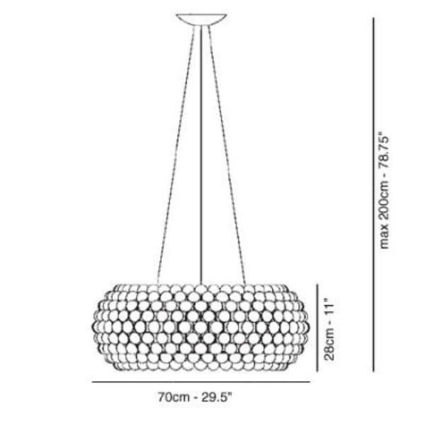 caboche grande sospensione suspension lamp foscarini. Black Bedroom Furniture Sets. Home Design Ideas