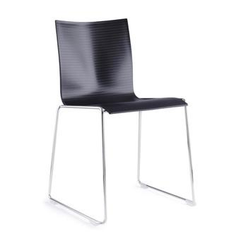 - Chairik XL127 Stuhl - schwarz/Kunststoff/Gestell: 16 mm Rohr blankverchromt/52x57x80cm