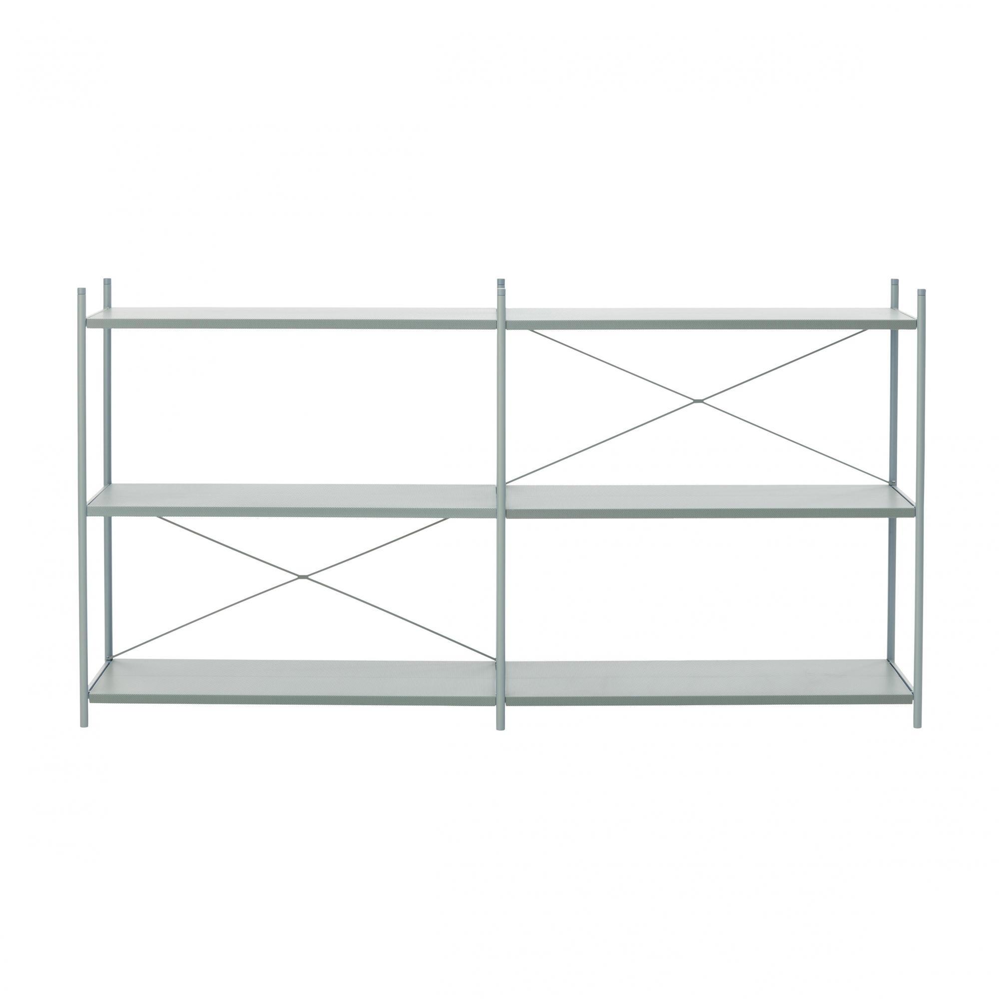 ... Ferm LIVING   Punctual Shelving System 2x3   Dusty Blue/6 Shelves/186.2x100x42cm  ...