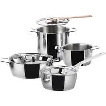Alessi - Pots&Pans Cooking Pot Set Of 7