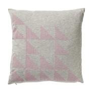 Bloomingville - Geometrics Cushion Rose - grey melange/rose/jersey/W45xH45cm