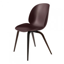 Gubi - Beetle Dining Chair With Smoked Oak Wood Base