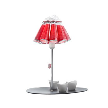 Ingo Maurer - Campari Bar Tischleuchte - rot/Glas/2800K/Lieferung ohne Schälchen
