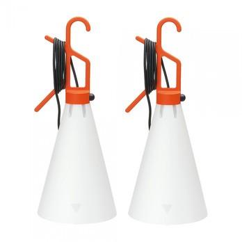 Flos - May Day Leuchte Set 2 Stück - orange/Polypropylen