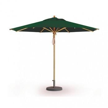 Weishäupl - Klassiker Sonnenschirm rund - dunkelgrün/Gestell Holz/Dolan/Ø 250 cm