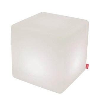 Moree - Cube LED Accu Outdoor Multicolor Sitzwürfel - weiß/ABS-Kunststoff/mit IR Fernbedienug/mit Akku (6h) + Ladegerät