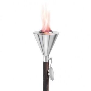 Blomus - Orchos - Torche pour gel combustible 65032 - acier/acier inoxydable/bois/H: 155,0 cm