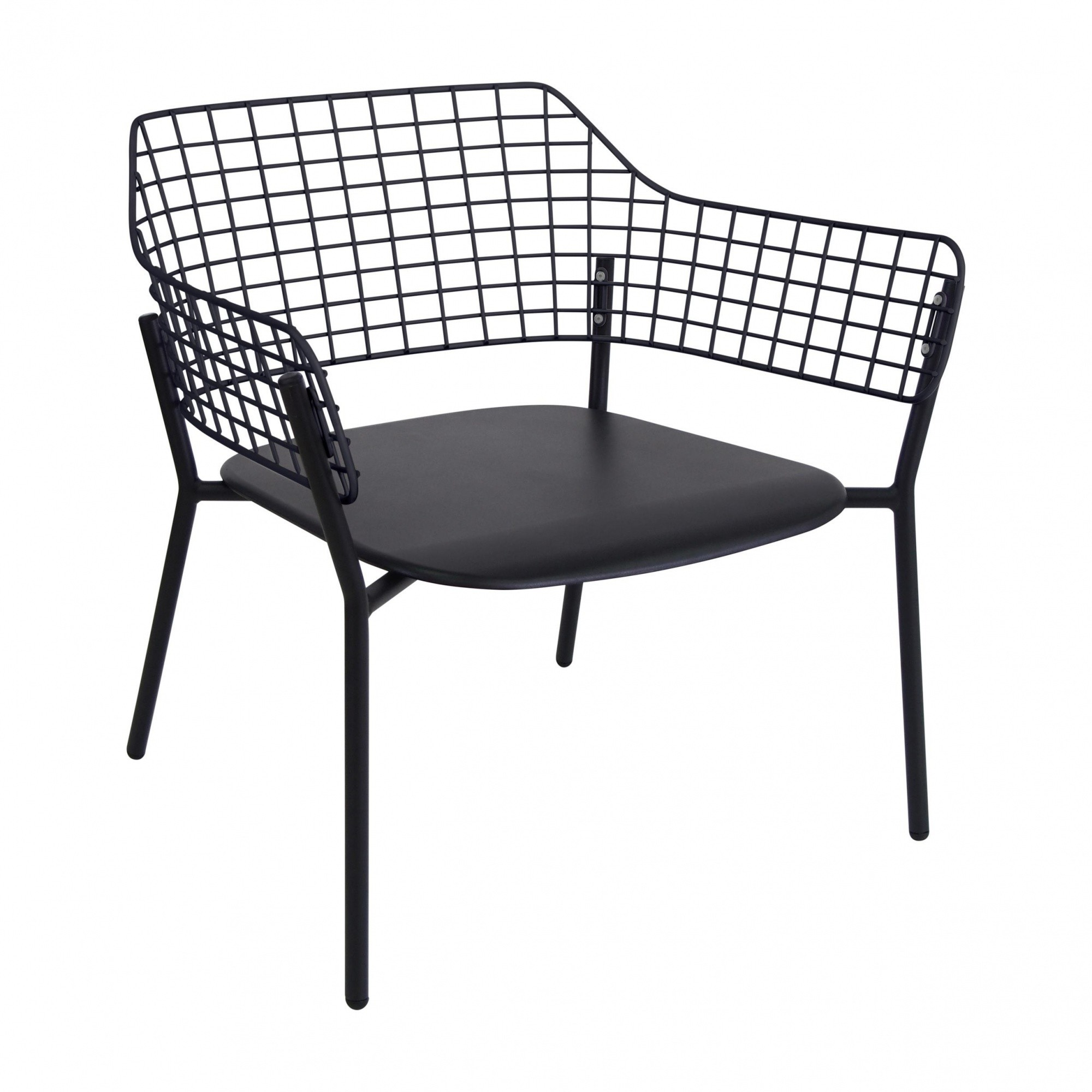 Lyze Garden Lounge Chair Emu Garten Loungesessel Schwarz Pulverbeschichtet Bxhxt 76x73x72cm