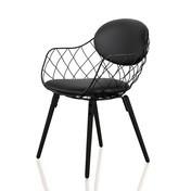 Magis - Piña Stuhl - Leder - schwarz/lackiert/Beine lackiert