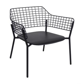 emu - Lyze Garten-Loungesessel - schwarz/pulverbeschichtet/BxHxT 76x73x72cm