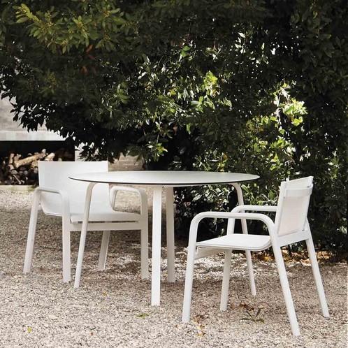 Gandia Blasco - Stack Gartenstuhl mit Armlehnen H 85cm