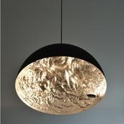 Catellani & Smith - Stchu-Moon 02 Pendelleuchte - gold/matt schwarz/Ø60cm
