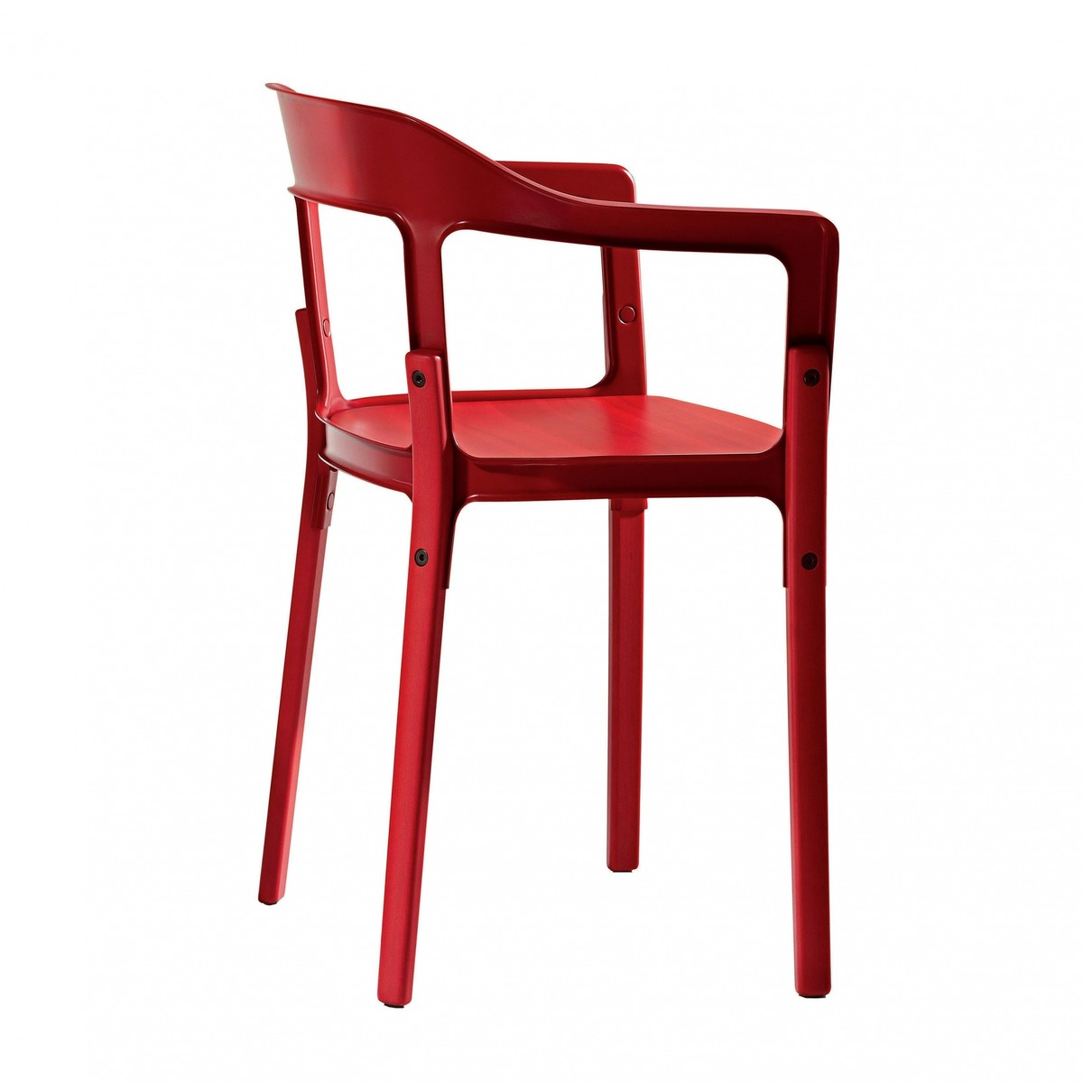 Steelwood chair silla con reposabrazos magis for Sillas con reposabrazos