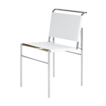ClassiCon - Roquebrune Stuhl - weiß/Gestell verchromt