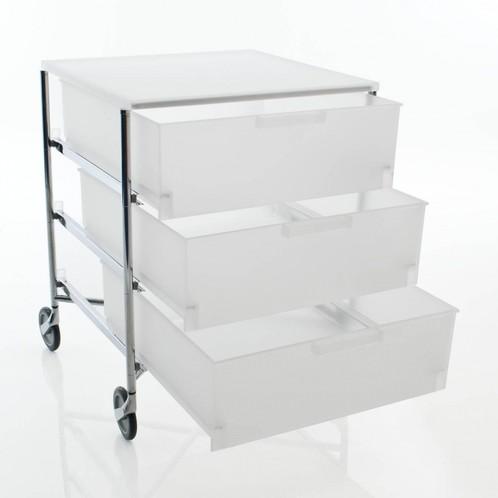 Kartell - Mobil 3 Container mit Rollen