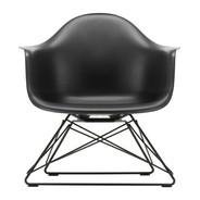 Vitra - Chaise avec accoudoirs Eames Plastic LAR noir