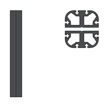 HAY - New Order Verbindungsprofil-Set 2tlg. - charcoal dunkelgrau/Länge: 33 cm