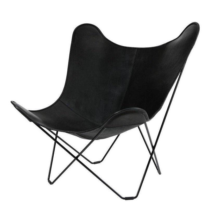 cuero Leather Mariposa Butterfly Chair | AmbienteDirect