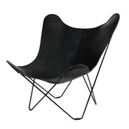 cuero - Leather Mariposa Butterfly Chair - Fauteuil
