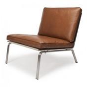 NORR 11 - Man Lounge Chair Sessel - cognac braun/gebürstet/Leder