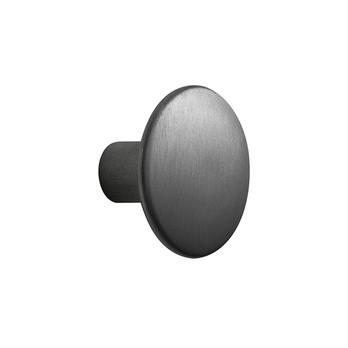 Muuto - The Dots Kleiderhaken Metall M - schwarz/Ø 3.9cm