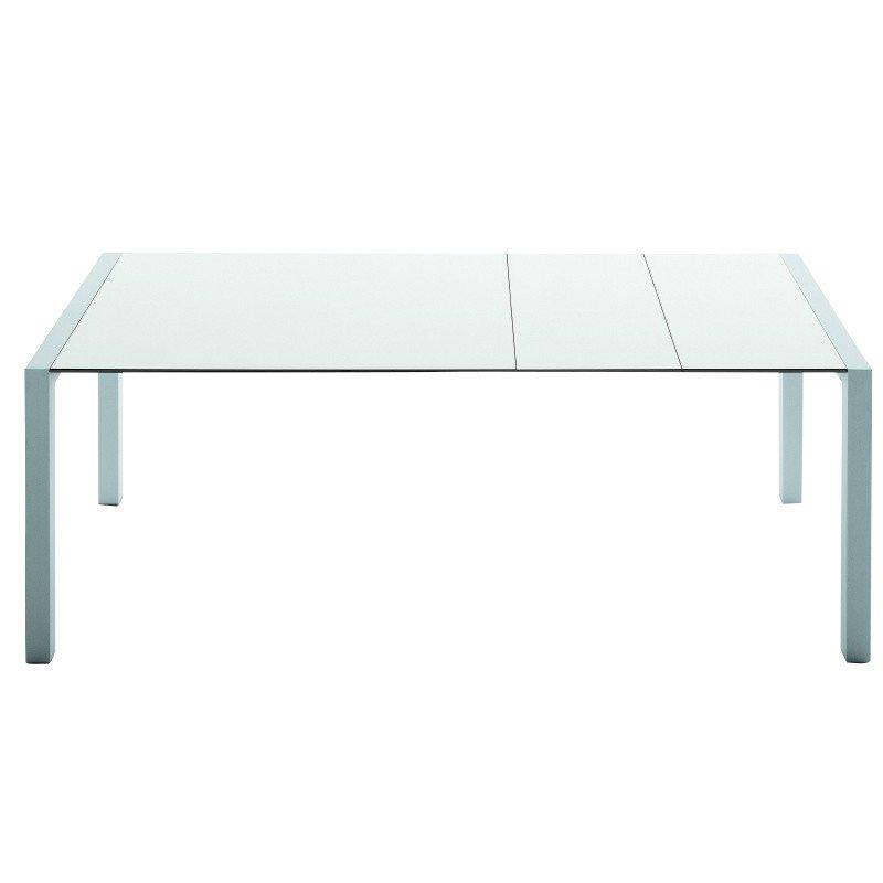 Kristalia   Sushi Tisch Ausziehbar   Weiß/Kante Schwarz/Laminat/Gestell  Aluminium/