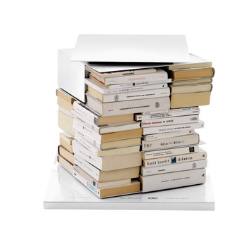 Opinion Ciatti - Ptolomeo X4 Short Büchersäule - weiß/lackiert/3 Regalböden/13cm Abstand