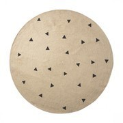 ferm LIVING - Jute Black Triangles - Tapis grand