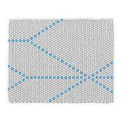 HAY - S&B Dot Teppich 80x100cm - big blue/80x100cm/Einzelstück