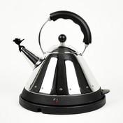 Alessi - Elektrischer Wasserkocher - schwarz/Edelstahl