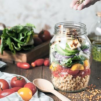 Salat im Glass