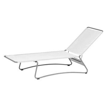 Weishäupl - Balcony Sonnenliege stapelbar - weiß/206x76x82cm/Kopfteil in 4 Positionen verstellbar