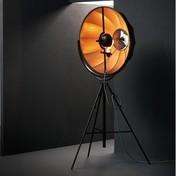 - Fortuny Bronze Rubelli LED Stehleuchte - schwarz/bronze/Stoff/3000K/5000lm/mit Dimmer