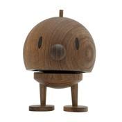 Hoptimist - Hoptimist Woody Bumble Wackelfigur - geräucherte eiche/H13,5cm/Ø10,0cm/mit Federmechanismus