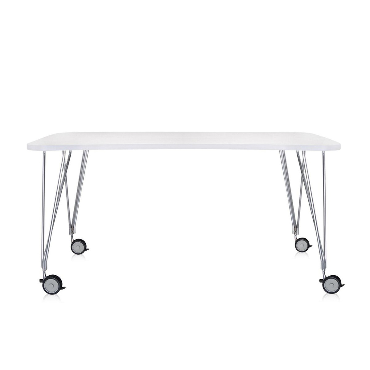 max table with wheels xcm  kartell  ambientedirectcom - kartell  max table with wheels xcm
