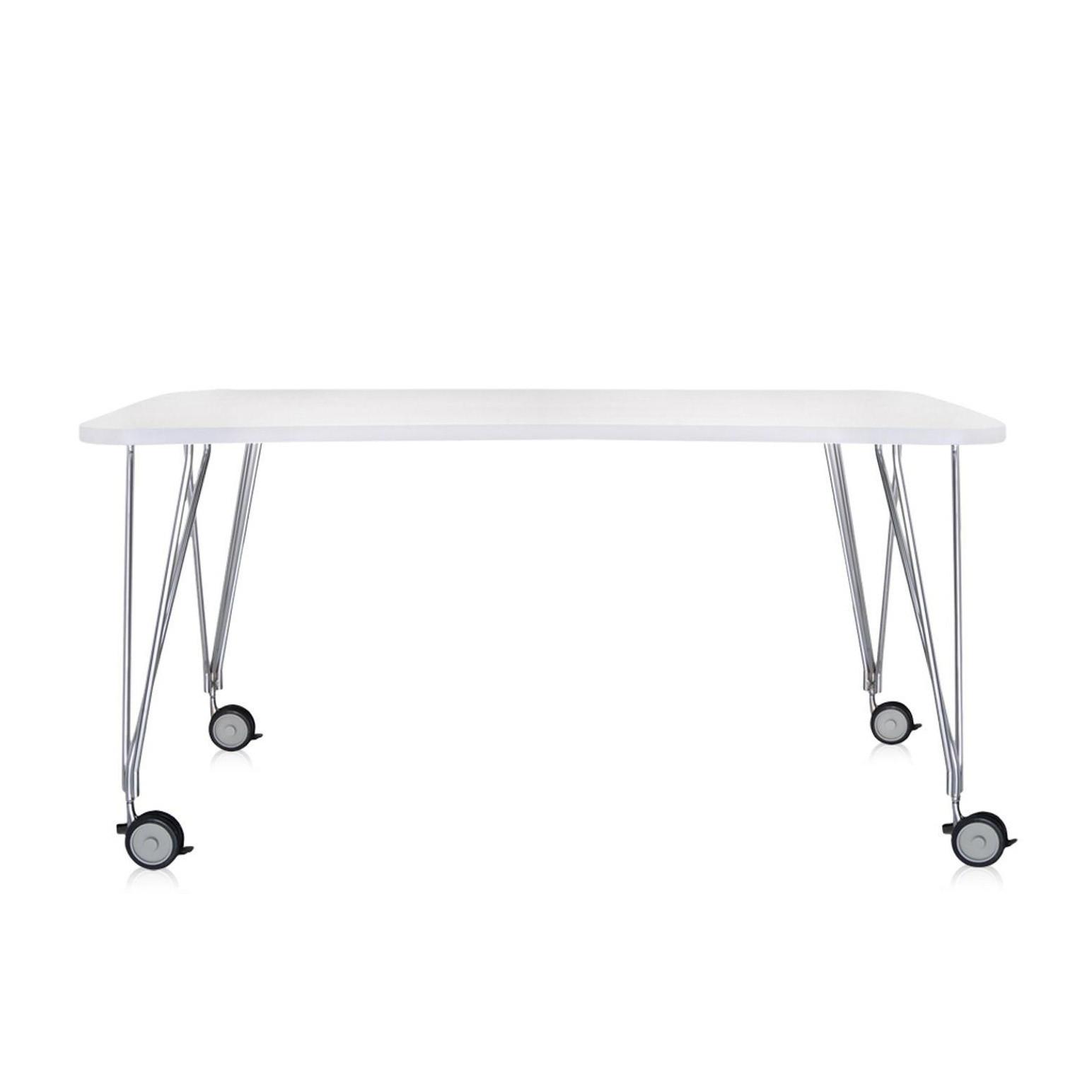 kartell max tisch mit rollen 160x80cm ambientedirect. Black Bedroom Furniture Sets. Home Design Ideas