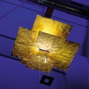 Ingo Maurer - Oh Mei Ma LED Pendelleuchte - gold/Papier/vergoldet/Ø130cm
