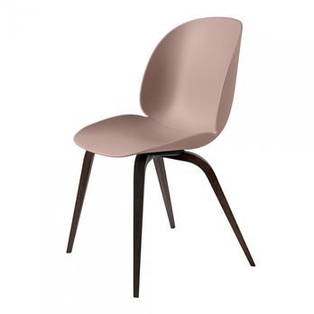 Gubi - Beetle Dining Chair Stuhl Eichengestell geräuchert - süßes pink/Sitz Polypropylen-Kunststoff/BxHxT 52x87x55cm/Gestell geräuchterte Eiche
