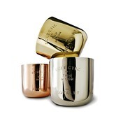 Tom Dixon - ECLECTIC Duftkerzen Geschenk-Set - gold/silber/kupfer/Messing/Nickel/Kupfer/3 Kerzen/Ø 6,5cm/20h Brenndauer je Kerze