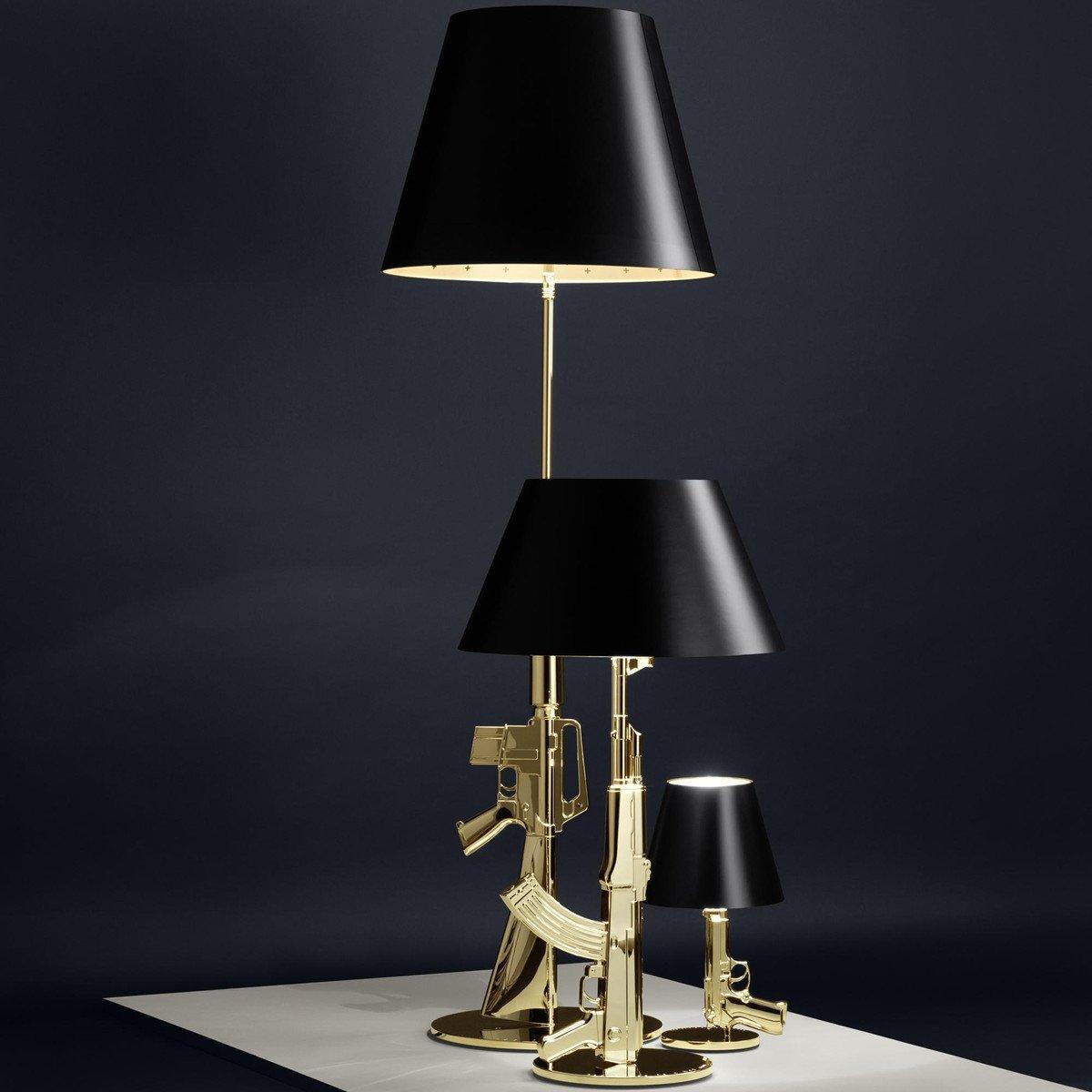 lounge gun lamp lampadaire flos. Black Bedroom Furniture Sets. Home Design Ideas