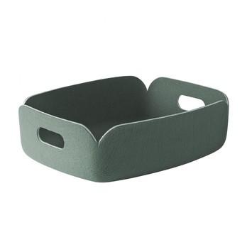 Muuto - Restore Tablett - staubgrün/Polymerfilz/LxBxH 31x40x12cm