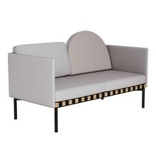 Petite Friture - Grid Sofa mit 2 Armlehnen Gestell Eiche