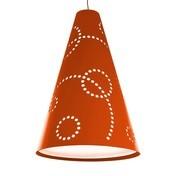Hey-Sign - Hey-Light Stamp S Pendelleuchte - mango-orange/Filz/exkl. Leuchtmittel/H: 50cm Ø 36cm